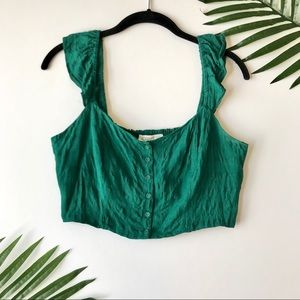 Forever 21 Green Crop Tank Top
